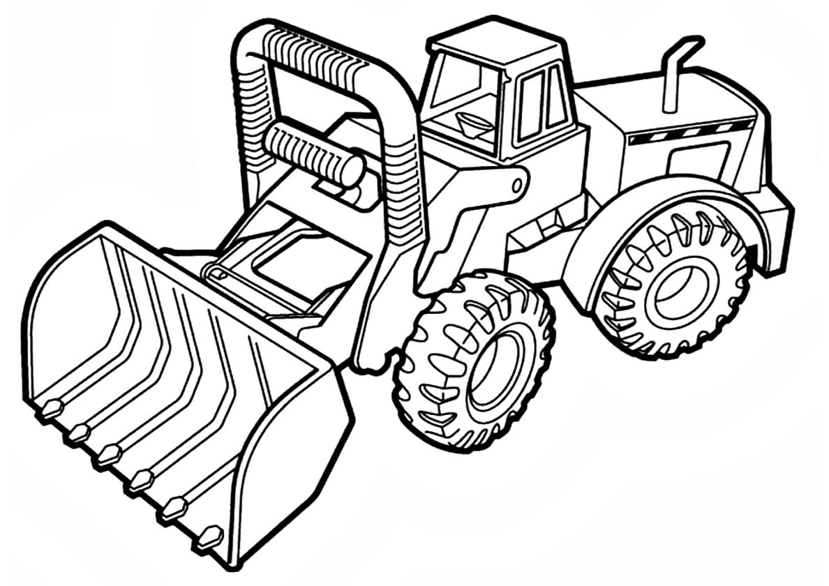 Раскраска Машина для уборки распечатать | Трактора