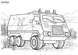 Машина военной мед. службы (Военные) бесплатная раскраска