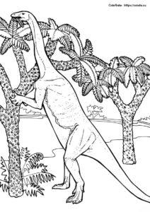 Динозавры распечатать раскраску - Массоспондил