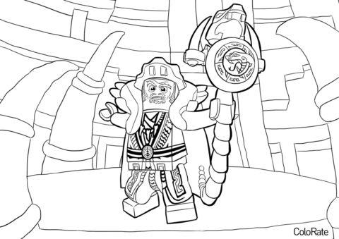 Мастер Чен (LEGO Ниндзяго) распечатать разукрашку