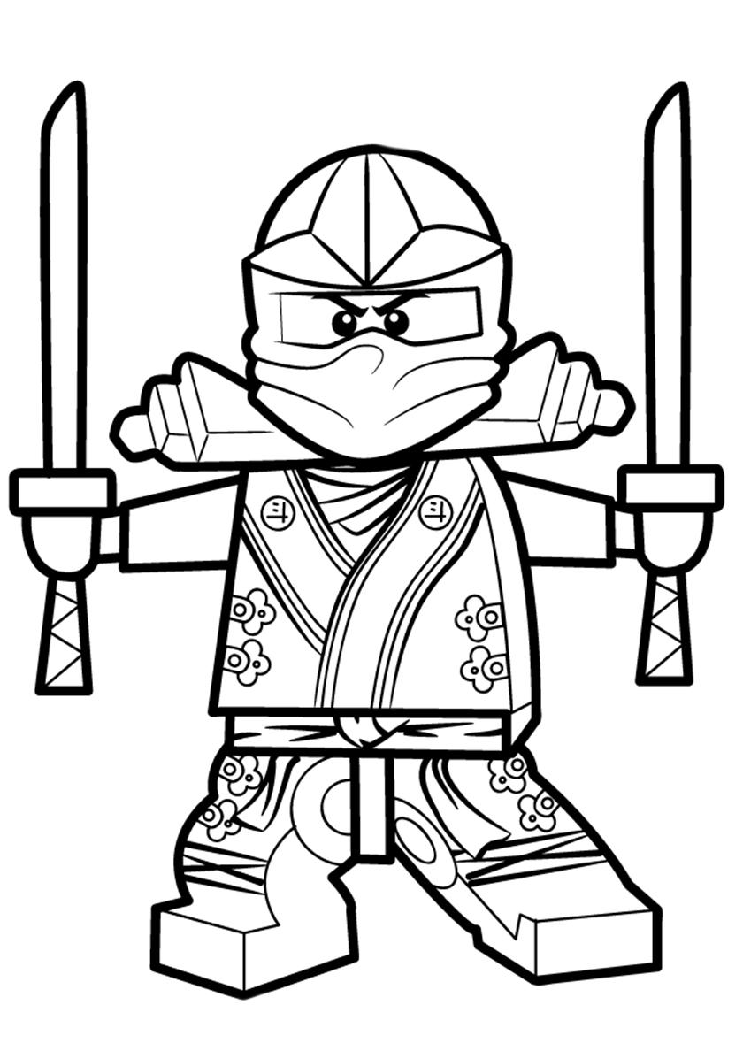 Раскраска Мастер Ллойд Гармадон распечатать | LEGO Ниндзяго