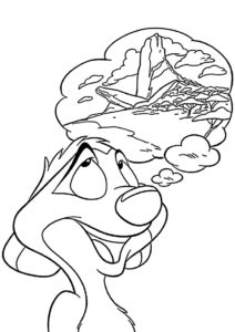 Мечты о беззаботной жизни (Король Лев) раскраска для печати и загрузки