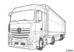Грузовики распечатать раскраску - Mersedes-Benz Actros