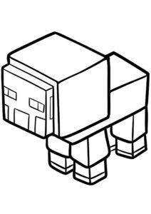 Милая овечка (Майнкрафт) бесплатная раскраска на печать