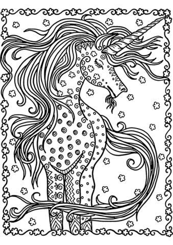 Распечатать раскраску Милейшее создание - Единороги