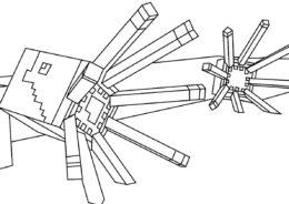 Майнкрафт распечатать раскраску - Minecraft Осьминоги
