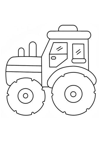 Раскраска Мини-трактор распечатать на А4 и скачать - Трактора