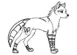 Бесплатная раскраска Молодой волчонок распечатать на А4 - Волки