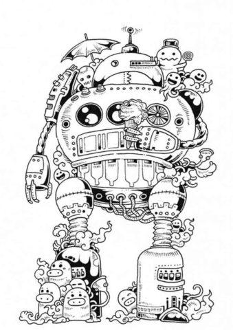 Морской робот (Роботы) распечатать раскраску