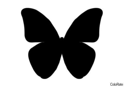 Мотылек (Трафареты бабочек) распечатать трафарет для вырезания на А4