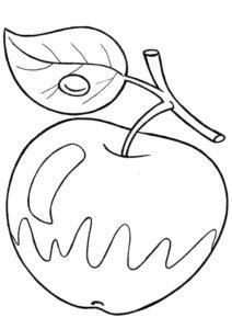 Наливное яблочко разукрашка скачать и распечатать - Яблоко