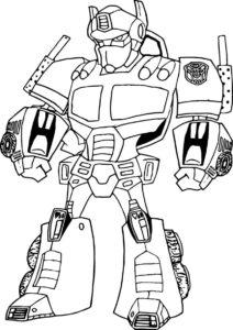Бесплатная раскраска Нападающий робот - Роботы