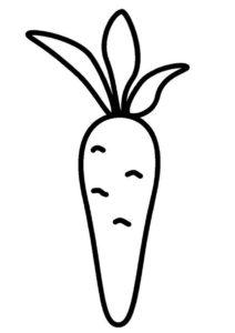 Нарисованная морковь распечатать раскраску - Морковь