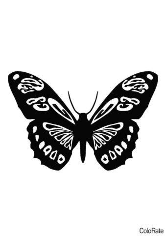 Насекомое с расписными крыльями (Трафареты бабочек) бесплатный трафарет