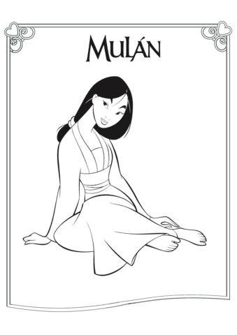 Настоящая принцесса (Мулан) распечатать разукрашку