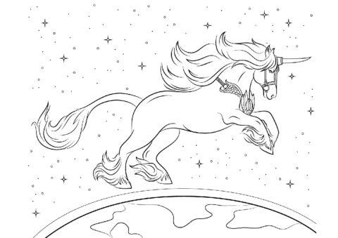 Бесплатная раскраска Навстречу приключениям распечатать на А4 - Единороги