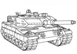 Немецкий танк Леопар 2 А5 (Танки) распечатать бесплатную раскраску