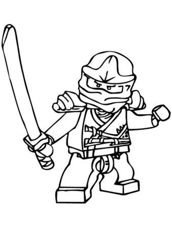 Раскраска Обычный ниндзя - LEGO Ниндзяго