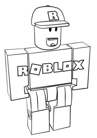 Обычный персонаж Роблокс (Роблокс) распечатать разукрашку