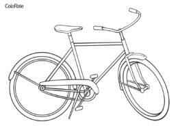 Велосипеды распечатать раскраску - Обычный велосипед