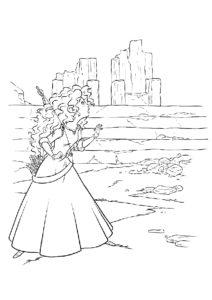 Очаровательная потеряшка - Мерида распечатать раскраску на А4