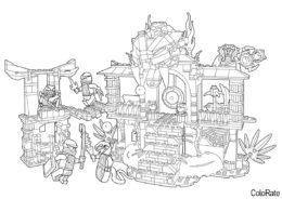 Очередная миссия раскраска распечатать бесплатно на А4 - LEGO Ниндзяго