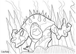 Огромный монстр Зефирка (Холодное сердце) распечатать раскраску