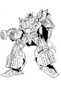 Огромный робот-трансформер - Трансформеры распечатать раскраску на А4