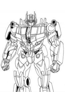 Бесплатная раскраска Оптимус Прайм распечатать на А4 - Трансформеры