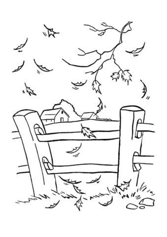 Раскраска Осень пришла распечатать на А4 и скачать - Осень
