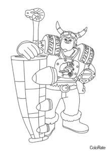 Отважный Крогар (Зак Шторм) бесплатная раскраска на печать
