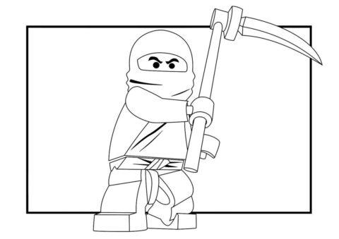Отважный ниндзя Коул раскраска распечатать бесплатно на А4 - LEGO Ниндзяго