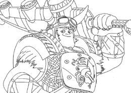 Отважный викинг распечатать разукрашку бесплатно - Зак Шторм