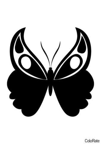 Трафареты бабочек бесплатный трафарет - Павлиний глаз