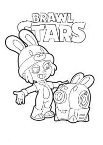 Браво Старс бесплатная разукрашка - Пенни в образе кролика