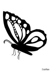 Трафарет Перламутровка распечатать и скачать - Трафареты бабочек