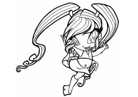 Пикси Чатта - Винкс бесплатная раскраска