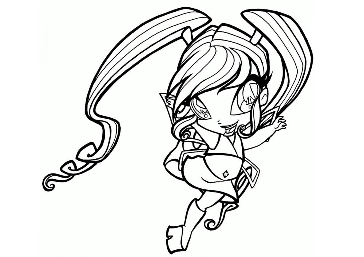 Раскраска Пикси Чатта распечатать | Винкс / Winx