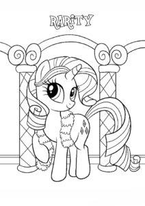 Пони-красавица (Рарити) распечатать раскраску