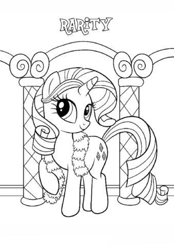 Раскраска Пони-красавица распечатать | Рарити