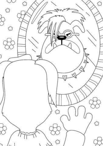 Портрет пса-рокера распечатать раскраску - Барбоскины