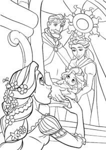 Бесплатная раскраска Правда о рождении Рапунцель распечатать на А4 - Рапунцель