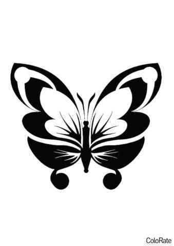 Прелестное насекомое - Трафареты бабочек распечатать трафарет на А4