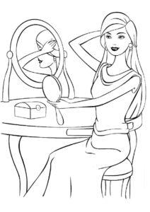 Приготовления к свиданию (Барби) раскраска для печати и загрузки