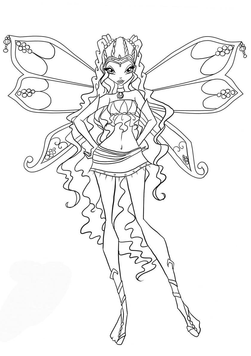 Раскраска Принцесса Андроса распечатать | Лейла