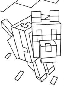 Прирученный волк распечатать и скачать раскраску - Майнкрафт