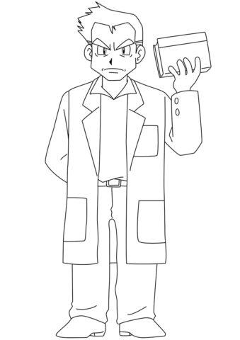Профессор Оук (Покемоны) распечатать разукрашку
