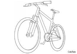 Простая схема велосипеда разукрашка скачать и распечатать - Велосипеды