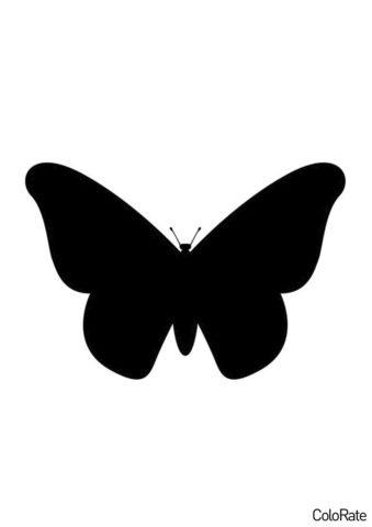 Простейший мотылек (Трафареты бабочек) бесплатный трафарет на печать