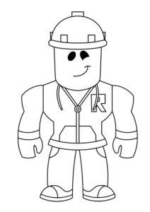 Раскраска Простой строитель распечатать на А4 и скачать - Роблокс